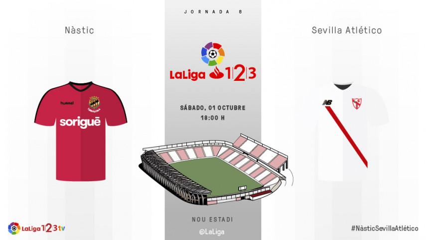 Nàstic y Sevilla Atlético solo quieren hablar de victoria