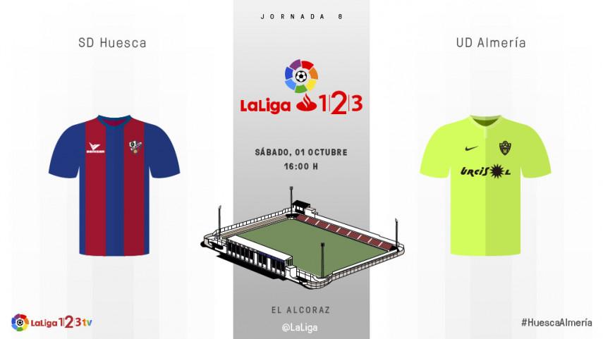 El Almería mide el buen momento del Huesca