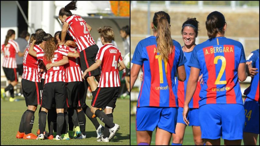 El Athletic y el FC Barcelona comienzan su andadura en la UEFA Women's Champions League