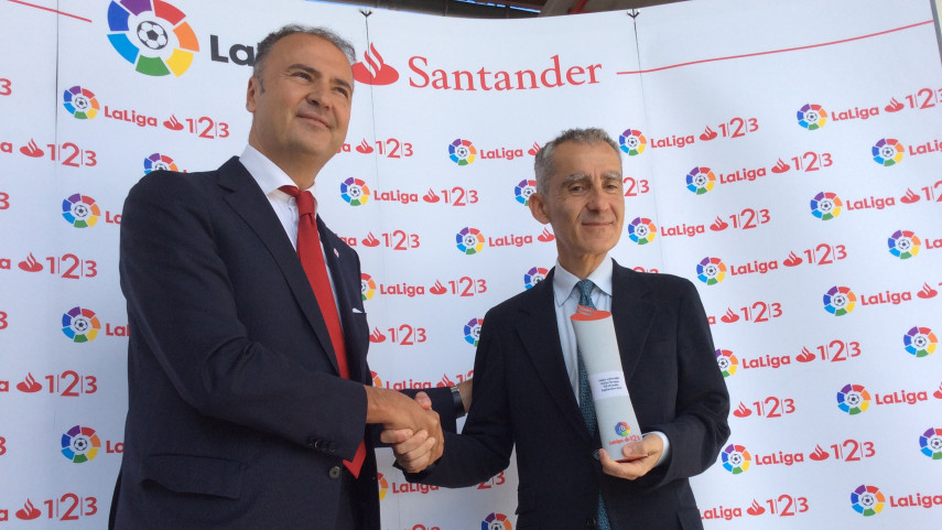 Carlos Terrazas, Mejor Entrenador de LaLiga 1l2l3 en septiembre