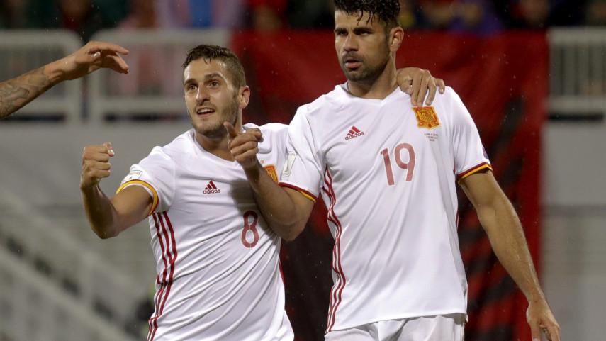 España, líder de grupo tras vencer a Albania