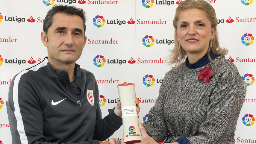 Ernesto Valverde named LaLiga Santander Manager of the Month for September