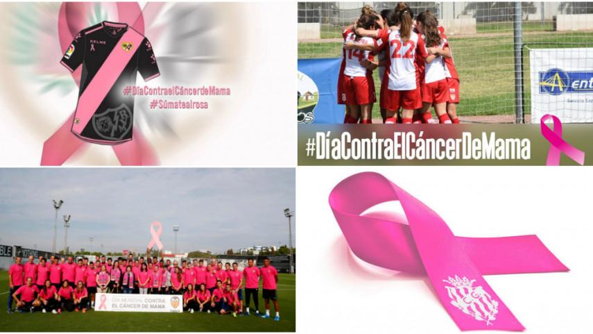 Clubes y jugadores de LaLiga se suman al rosa