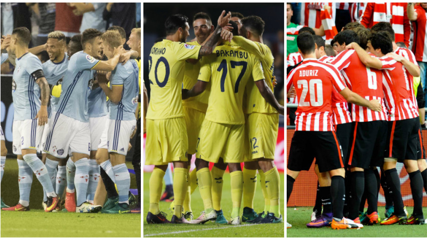 Nuevos retos para Celta, Athletic y Villarreal en la UEFA Europa League