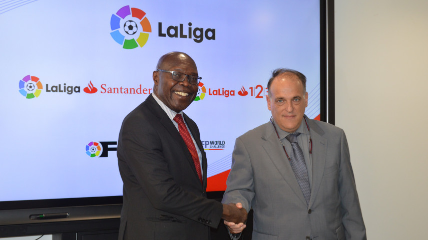 LaLiga comparte conocimientos con representantes de la liga de Kenia