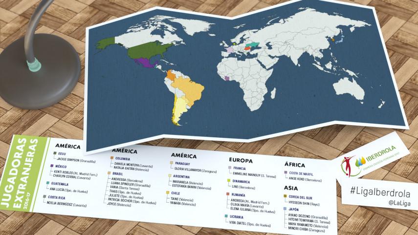 La Liga Femenina Iberdrola, más internacional que nunca