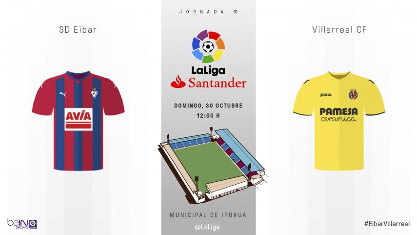 El Eibar, ante el reto de frenar al invicto Villarreal