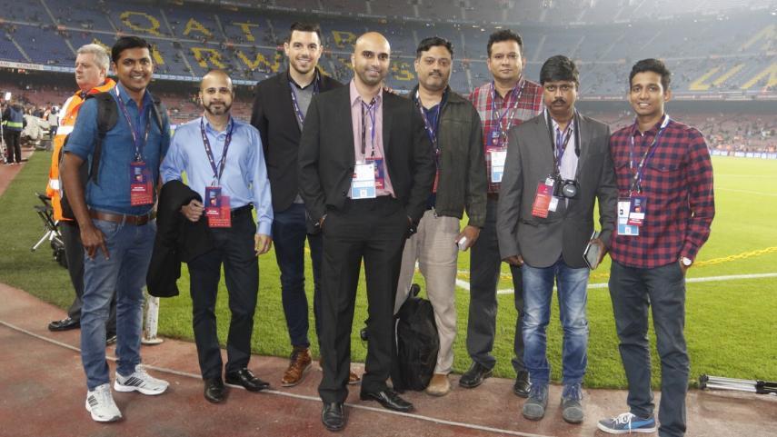 Una delegación de periodistas de India visita España para conocer LaLiga en primera persona