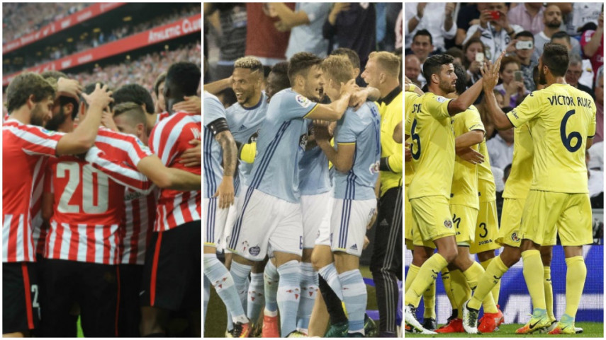 Athletic, Celta y Villarreal buscan resarcirse en la Europa League