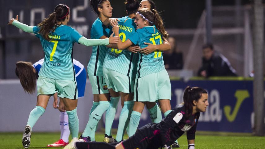 El FC Barcelona se lleva el derbi catalán y el liderato de la Liga Femenina Iberdrola
