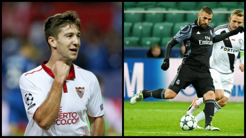 Una de cal y otra de arena para el Sevilla y el Real Madrid en la Champions
