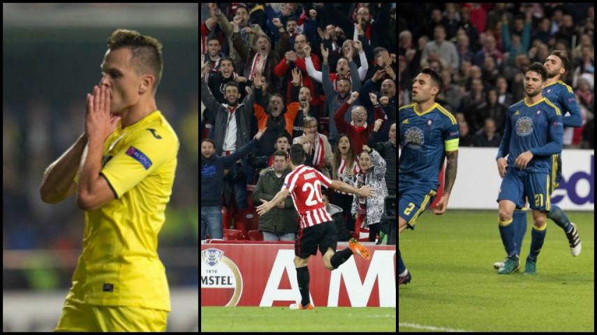 El Athletic sonríe y Celta y Villarreal sufren en la cuarta jornada de la Europa League