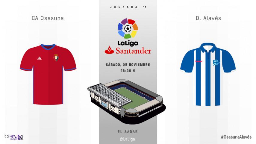 Osasuna y Alavés se reencuentran en LaLiga Santander