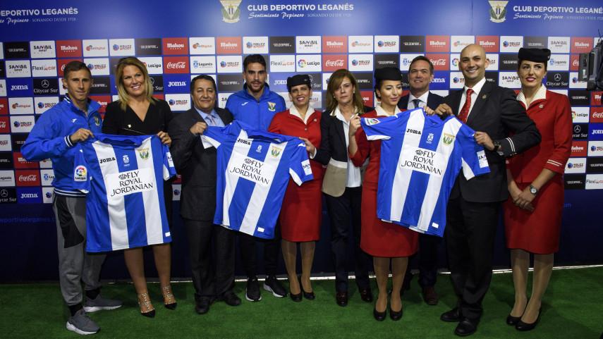 Royal Jordanian se presenta como patrocinador del CD Leganés