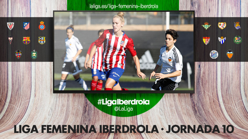 El VCF Femenino - At. Madrid Femenino, protagonista de la décima jornada de la Liga Femenina Iberdrola