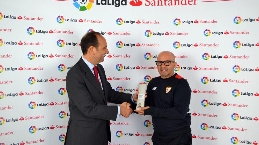 Jorge Sampaoli, Mejor Entrenador de LaLiga Santander en octubre