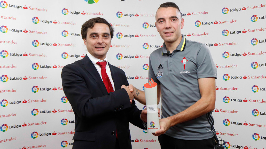 Iago Aspas named LaLiga Santander Player of the Month for October