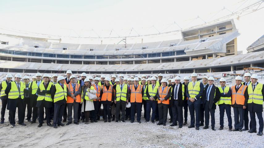 Los representantes de los clubes y SAD de LaLiga visitan el futuro estadio del Atlético de Madrid