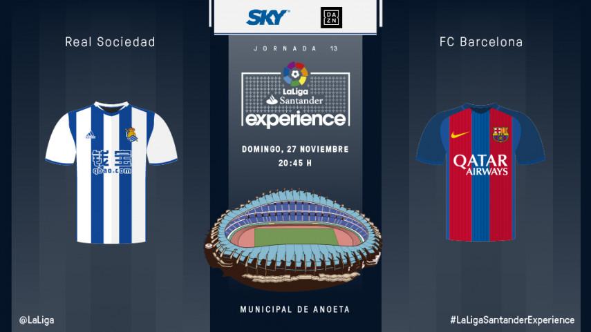 Anoeta espera a diez espectadores de Sky México y DAZN para vivir el Real Sociedad - FC Barcelona