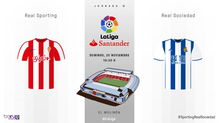 El Sporting, obligado a reaccionar ante una Real Sociedad en racha