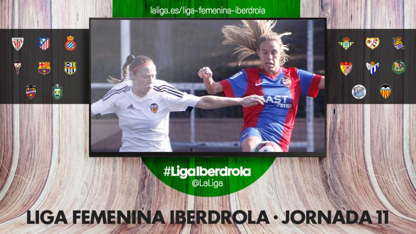 La jornada 11 de la Liga Femenina Iberdrola, la gran fiesta del fútbol femenino valenciano