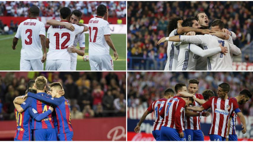 Real Madrid, Sevilla y Barcelona buscan unirse al Atlético en octavos de la Champions