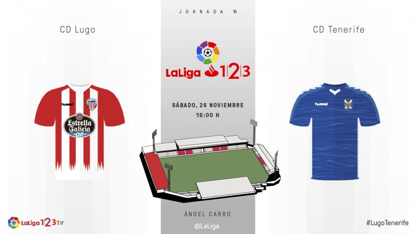 El Ángel Carro mide las aspiraciones de Lugo y Tenerife
