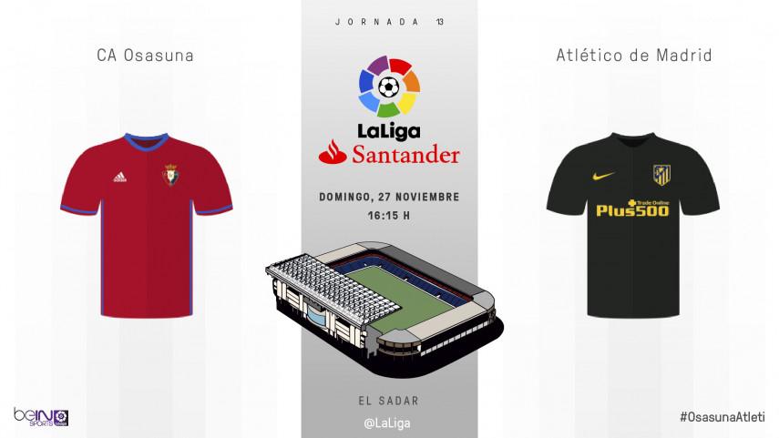 Osasuna y Atlético quieren coser sus heridas