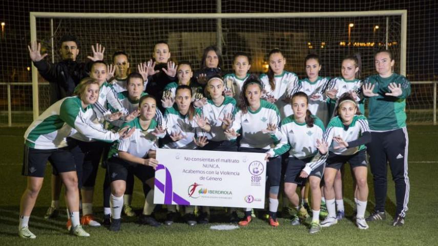 La Liga Femenina Iberdrola grita: #GanemosalaViolenciadeGénero