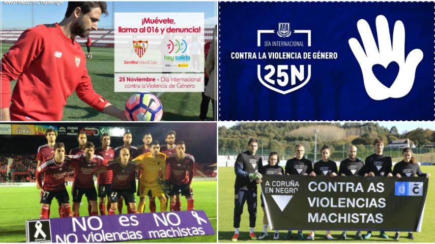 Los clubes de LaLiga Santander y LaLiga 1l2l3, firmes contra la violencia de género