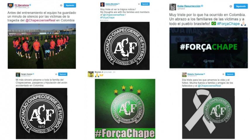 LaLiga Santander y LaLiga 1l2l3 muestran su apoyo al Chapecoense