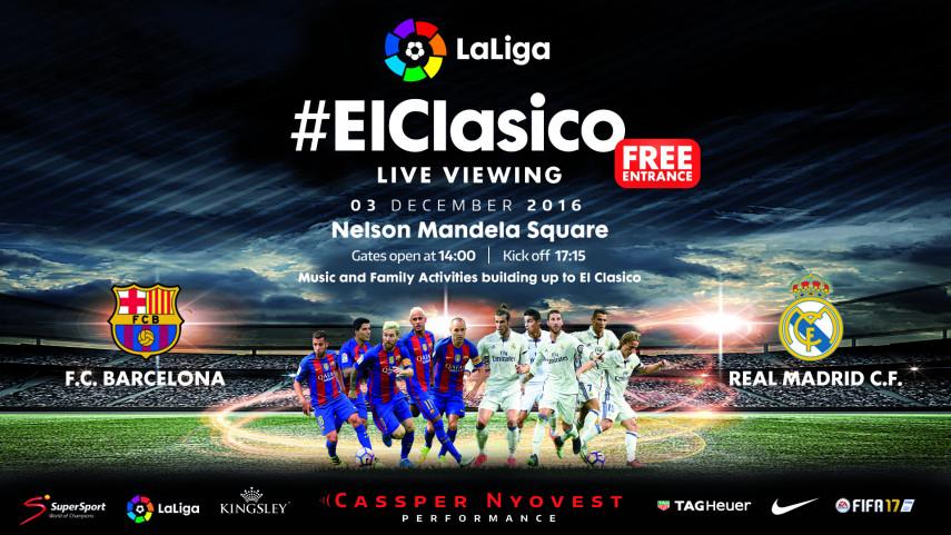 LaLiga lleva #ElClásico a la Plaza Nelson Mandela