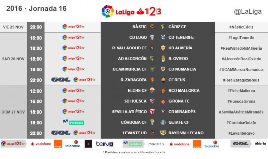 Resultado de imagen de Jornada 16 Liga 123