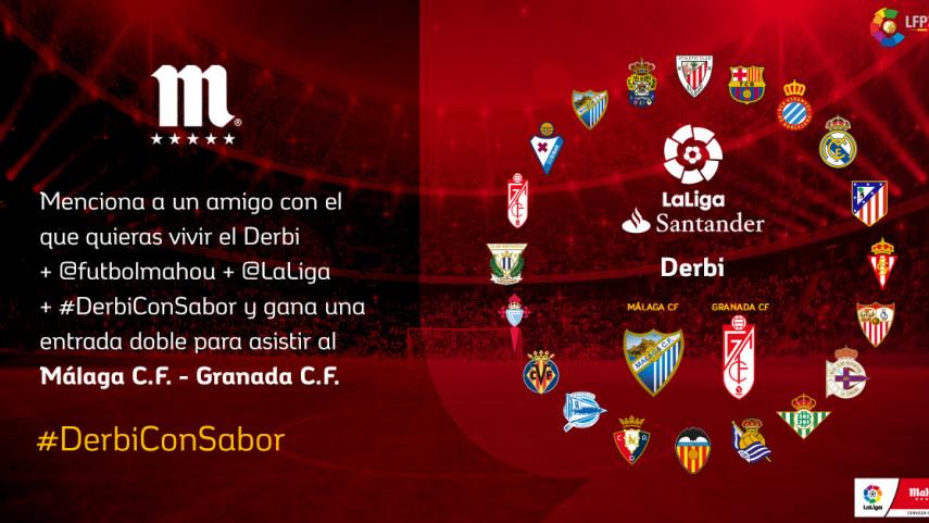 ¿Con quién quieres vivir el #DerbiConSabor de esta jornada entre Málaga CF y Granada CF?