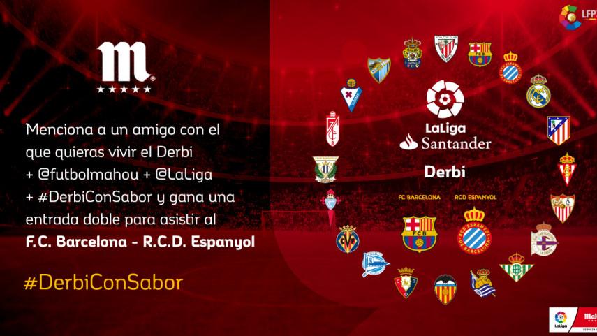 ¿Con quién quieres vivir el #DerbiConSabor de esta jornada entre FC Barcelona y RCD Espanyol?