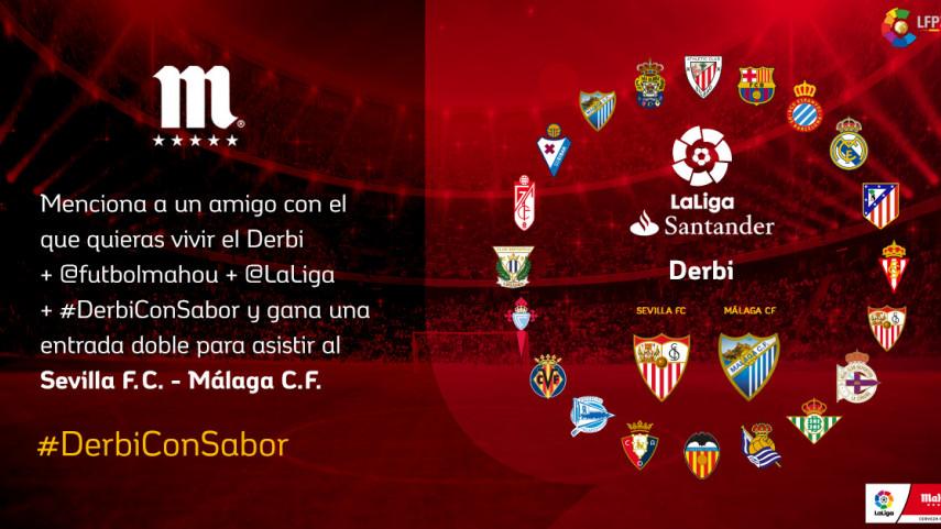 ¿Con quién quieres vivir el #DerbiConSabor de esta jornada entre Sevilla FC y Málaga CF?