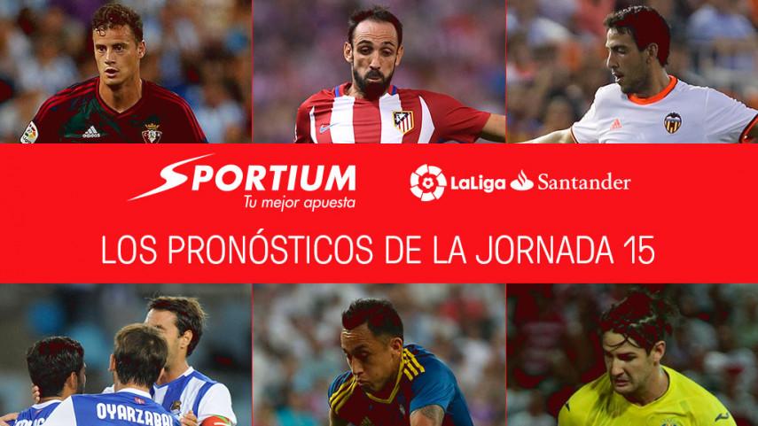 Las recomendaciones de Sportium para la jornada 15 de LaLiga Santander