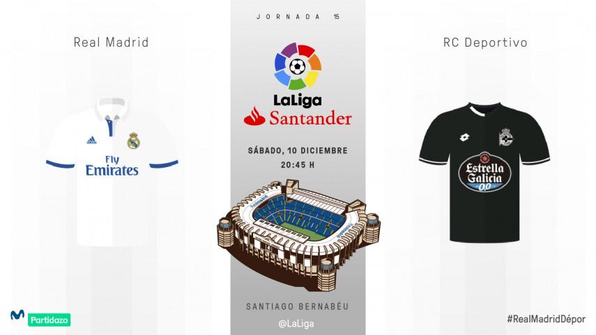 El Deportivo busca frenar a un Real Madrid invicto