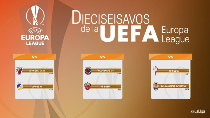 Athletic, Villarreal y Celta ya conocen sus rivales para dieciseisavos de Europa League