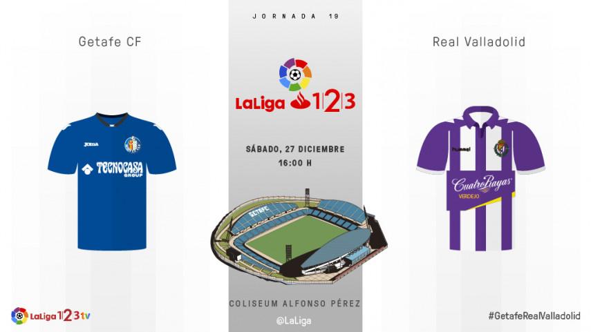 El Valladolid llega a Getafe a cuestionar la racha azulona
