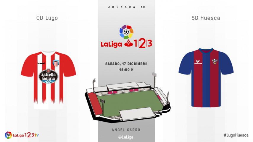 Lugo y Huesca buscan terminar el año en play-off