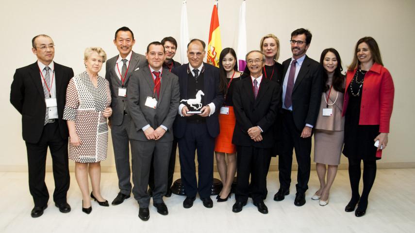 La Cámara de Comercio española en Japón premia a LaLiga con el 'Spain-Japan Contribution Award 2016'