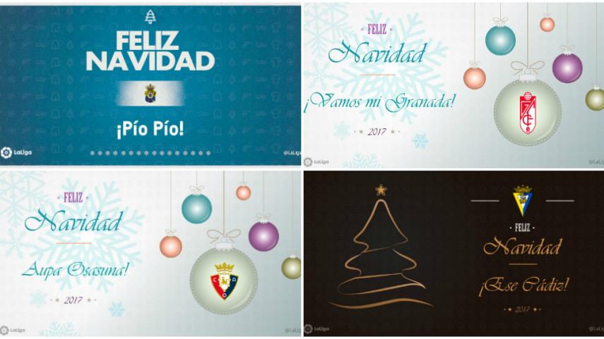 LaLiga te acerca la Navidad con postales descargables de tu equipo