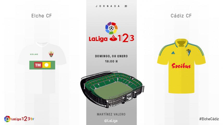 Elche CF y Cádiz CF, a empezar el año con buen pie