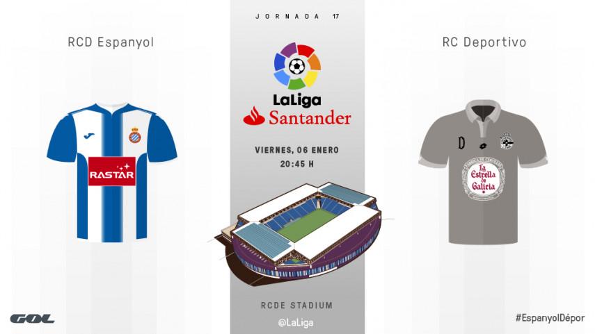 Espanyol y Deportivo estrenan el 2017 en LaLiga Santander