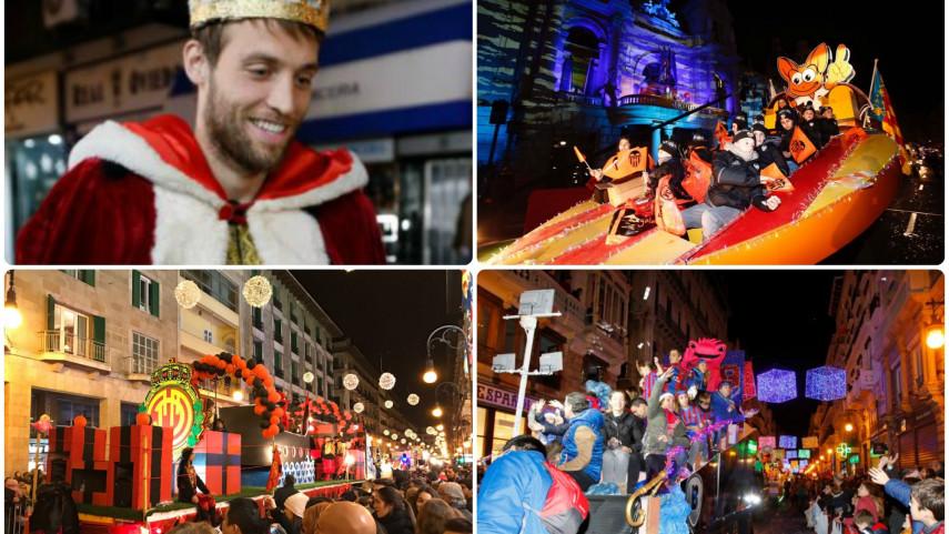 Los clubes de LaLiga, protagonistas en las cabalgatas de Reyes