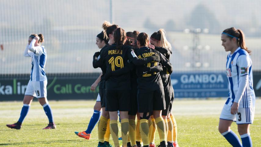 El Atlético de Madrid, campeón de la primera vuelta de la Liga Femenina Iberdrola