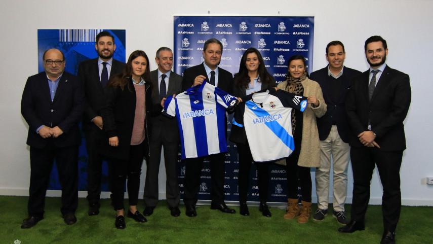 El Deportivo Femenino y Abanca, unidos para impulsar el fútbol femenino