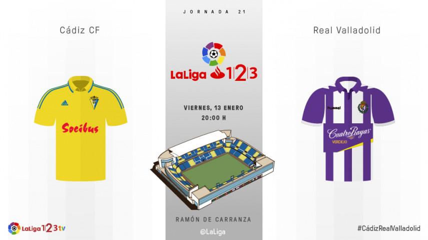 Cadiz-Valladolid, un partido al alza