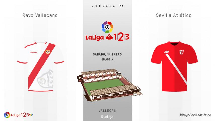 El Sevilla Atlético mide la solidez del Rayo Vallecano